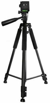 Light & Compact Pro Video & Camera Tripod w/ Bubble Level &