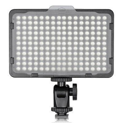 neewer photo studio 176 led ultra bright dimmable camera vid