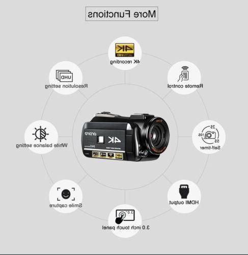 Ordro AC3 4K Ultra HD Camera(1080P