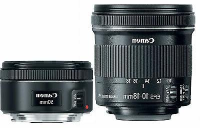 Canon Portrait  Travel 2 Lens Kit w/EF 50mm f/1.8 STM  EF-S