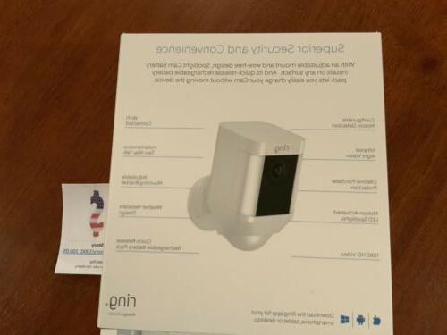 Ring Security Spotlight Cam Solar Wireless Battery HD