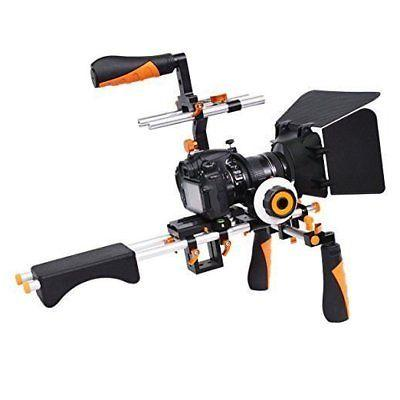 Video Camera Shoulder Rig Support with Matte Box Follow Focu