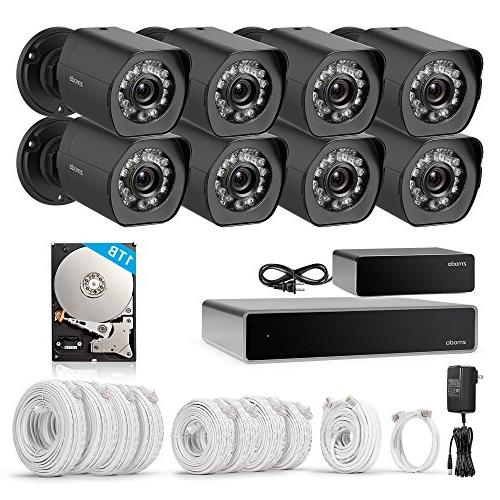 Zmodo 1080p 8 Outdoor Surveillance Security 8 Channel HDMI NVR, sPoE Repeater and Drive