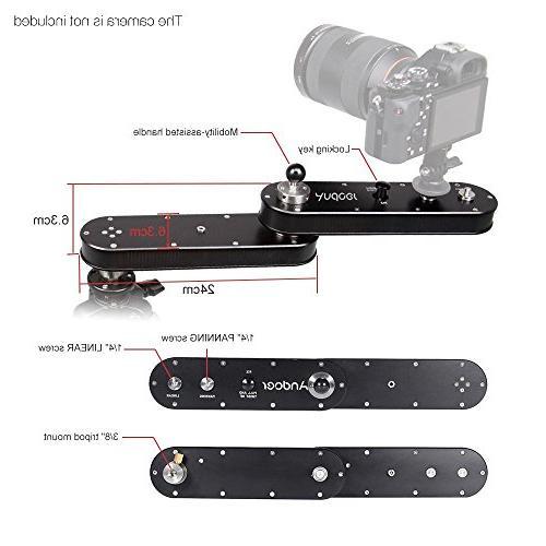 Andoer Camera Slider and Linear Motion Up 4× for GoPro Action / DSLR / Recording