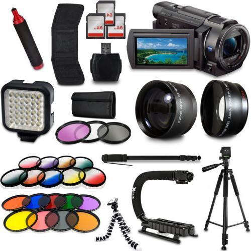 Sony FDR AX33 4K HD Handycam Camcorder Video Camera Tripod M