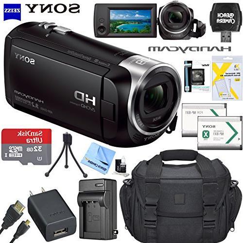 sony recording hdrcx405 handycam camcorder