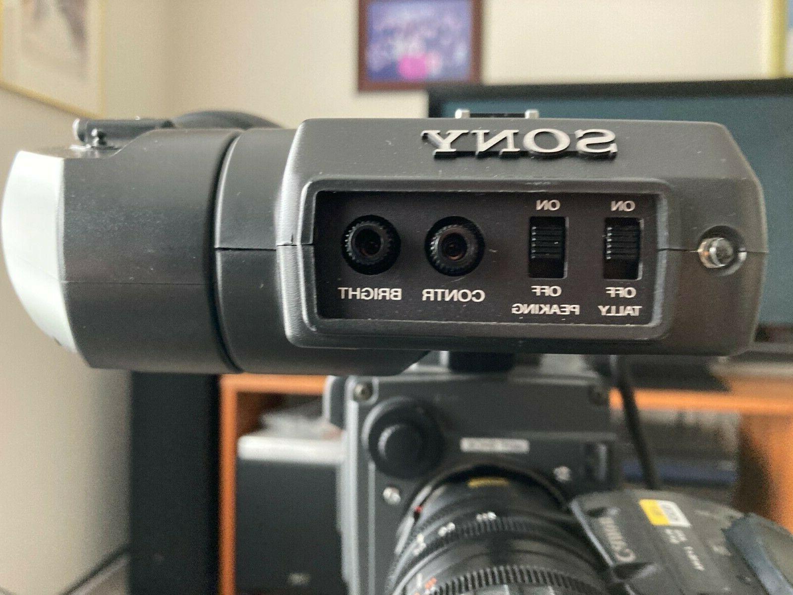 SONYdxc-327a color video camera adptor dfx-501 lens