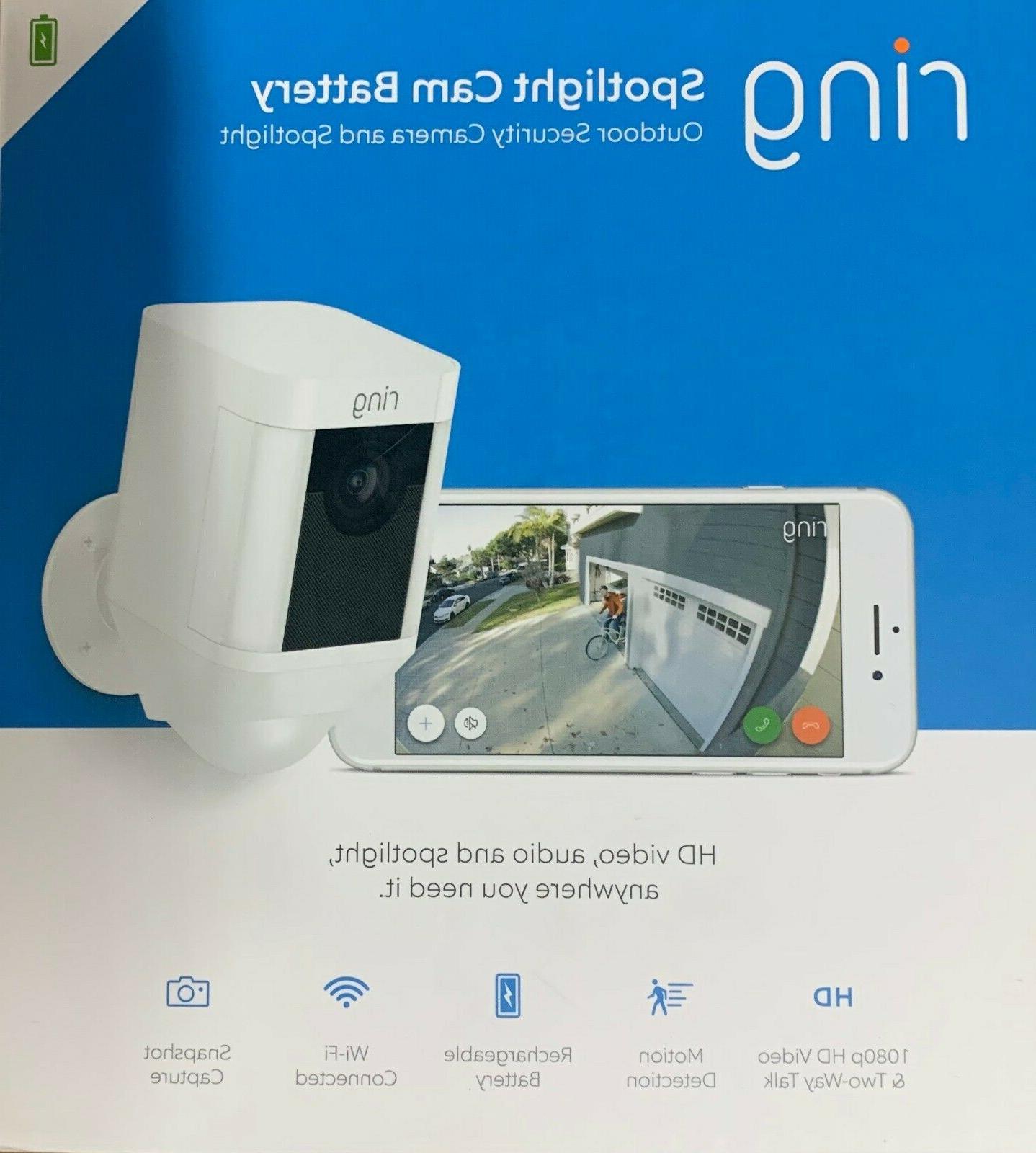 Ring - Spotlight Cam Wire-free Battery HD Camera,Two-Way Talk