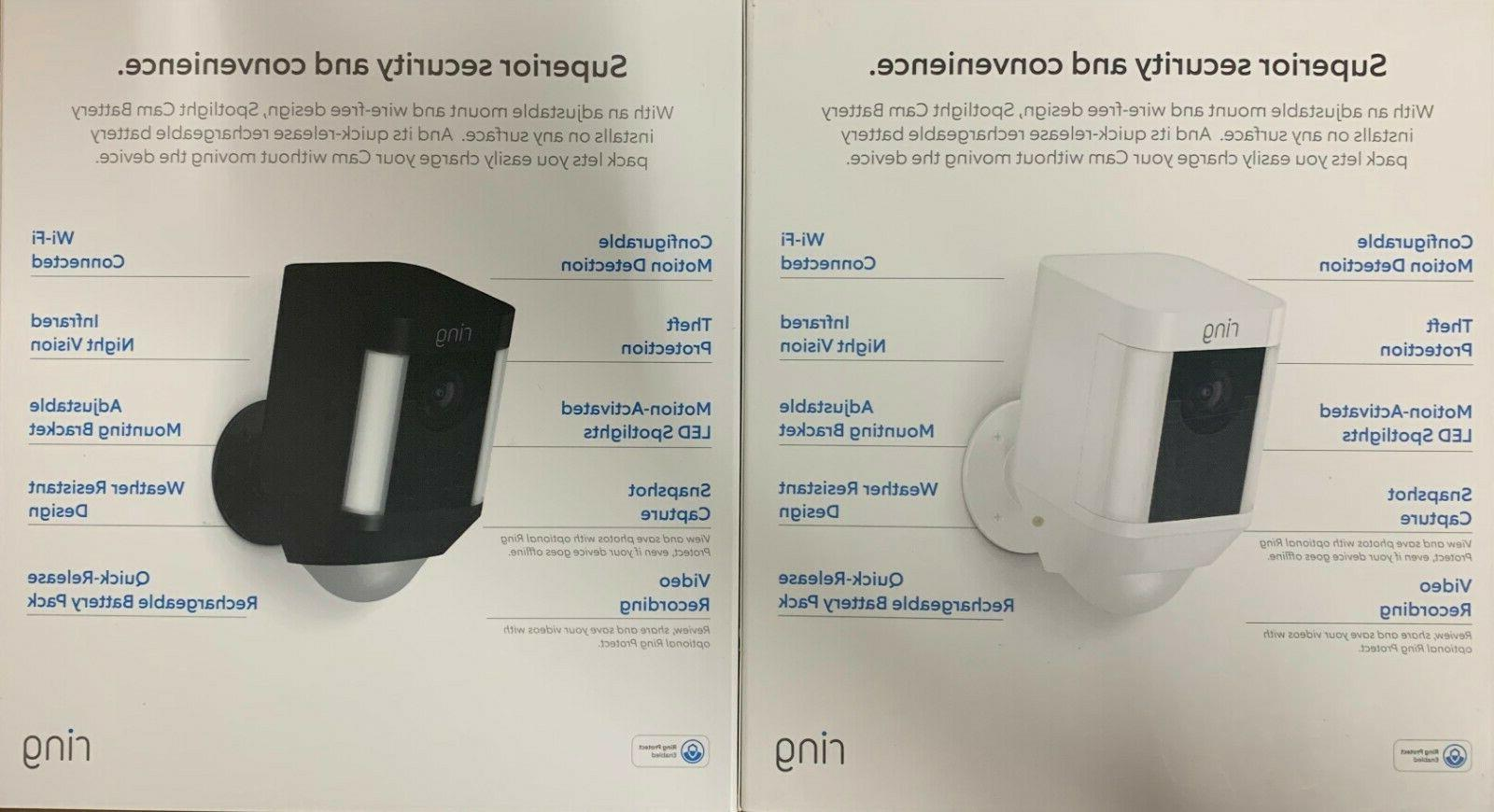Ring Spotlight Wire-free Security Camera,Two-Way SEALED