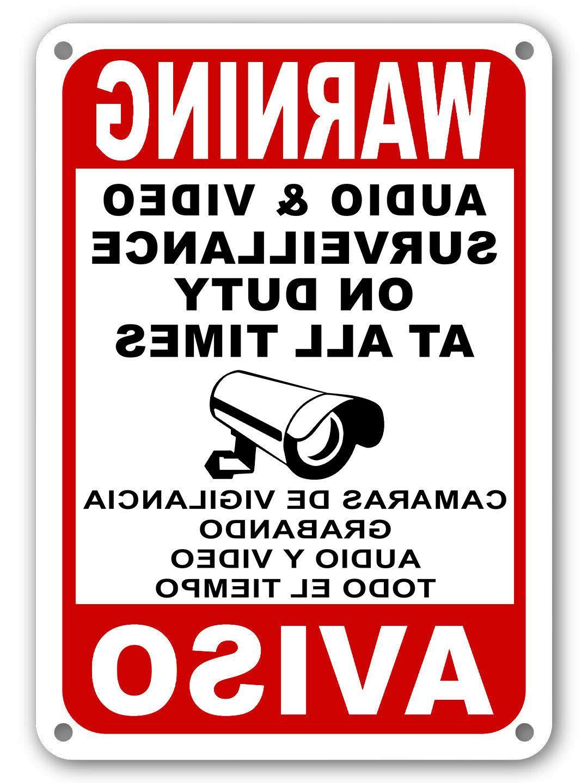 Surveillance signs Warning Security cctv sign Audio Video Ca