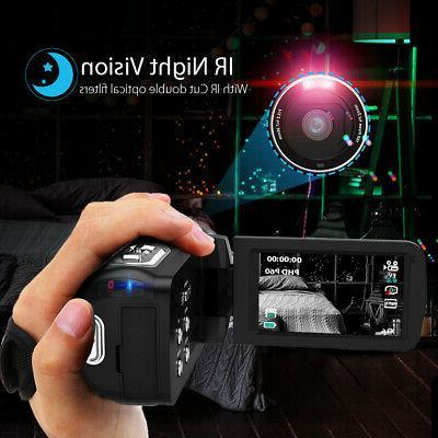 """#US STOCK 4K 3.0"""" LCD TOUCHSCREEN WIFI DIGITAL VIDEO DVR+MIC+LENS"""