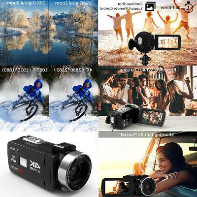 Andoer 4K HD Digital Video Camera Camcorder DV Recorder + Y1N1