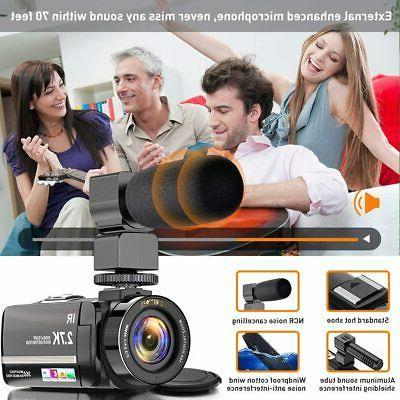 Video Camera Camcorder Ultra 36MP Camera for Night