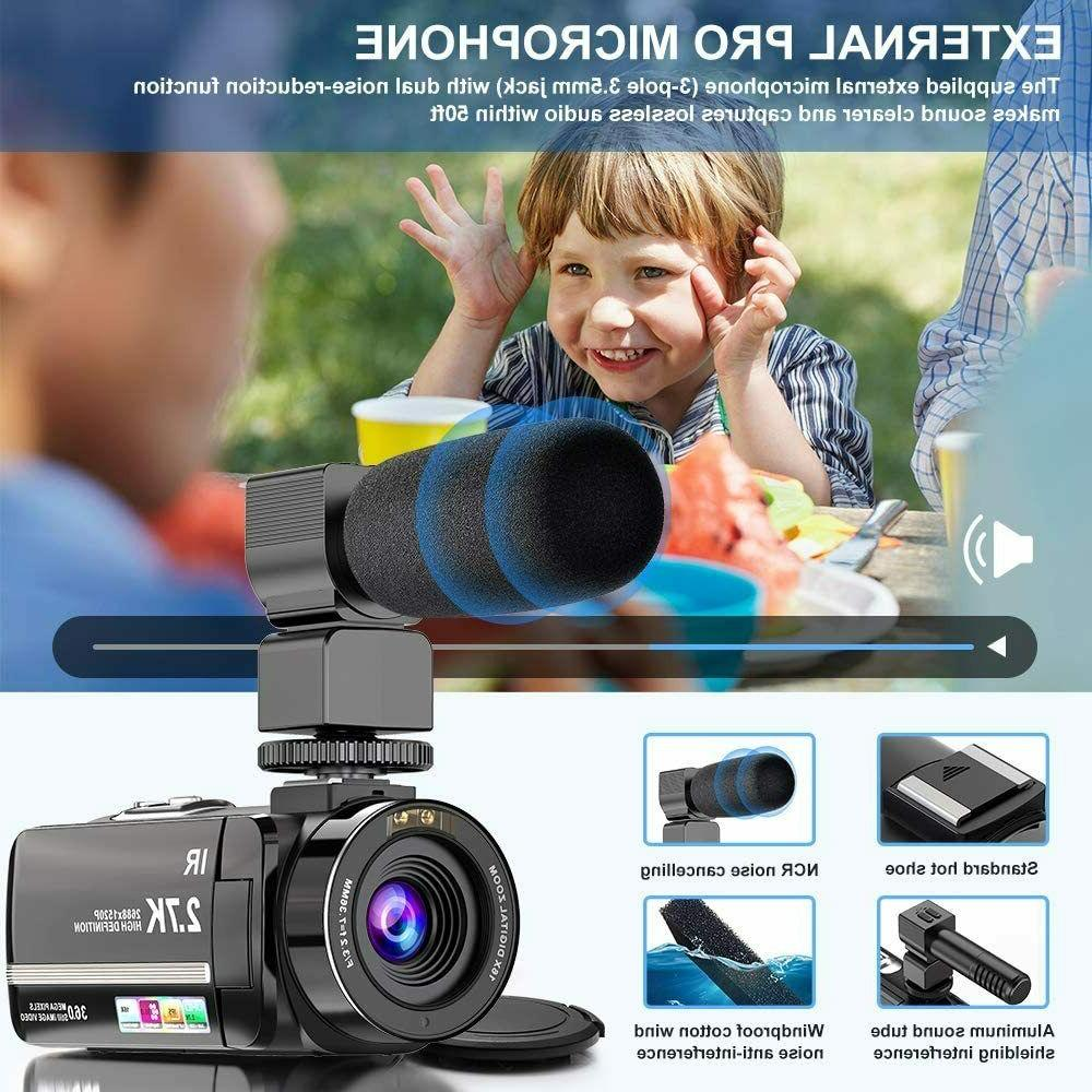 Video Camera Camcorder Ultra 36MP Night