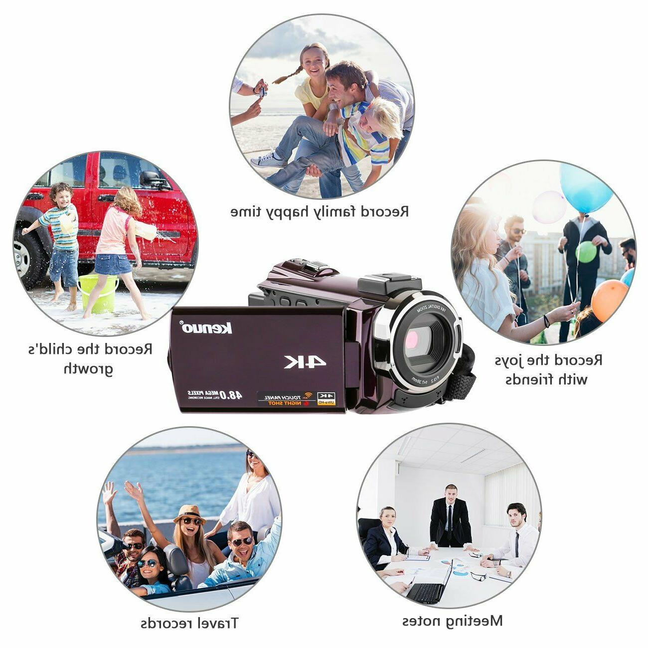 Video Kenuo 4K Camcorder, Portable 60FPS Digital
