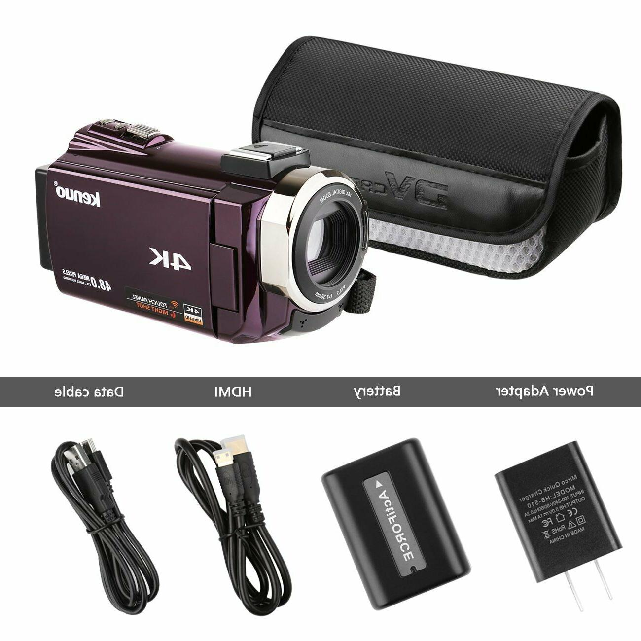 Video Camcorder, Portable 60FPS WiFi Digital