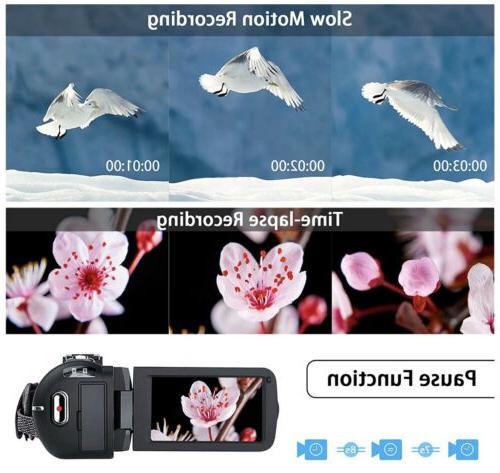 Video Camcorder, Ultra HD Vlogging Camera, Vis