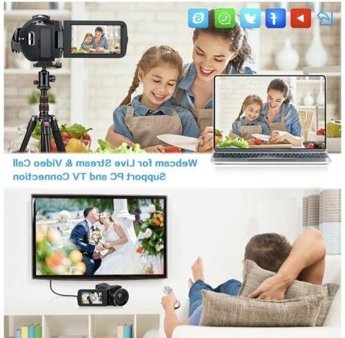 Video 2.7K Ultra HD Camera, 36MP IR Vis