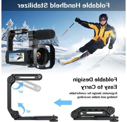 Video Camera Camcorder, Ultra HD Vlogging Camera, Vis