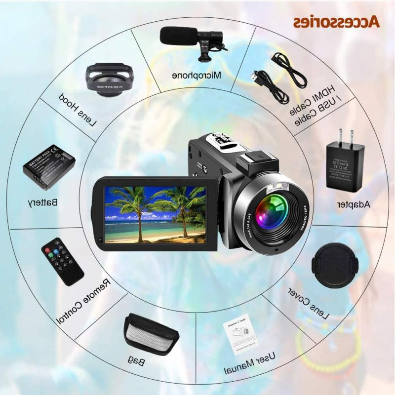 SAULEOO Video Camcorder 4K 30MP