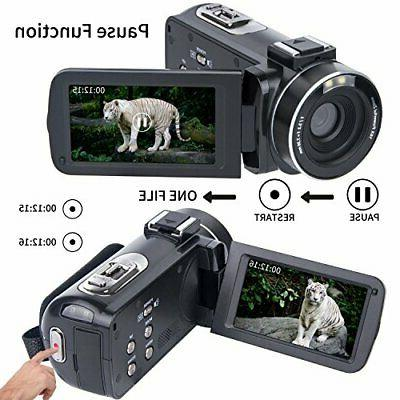 Video Camera 1080P LCD 270 Degrees Rotatable Screen