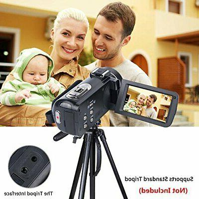 Video Camcorder 1080P 24.0MP 3.0 LCD 270 Degrees Rotatable Screen