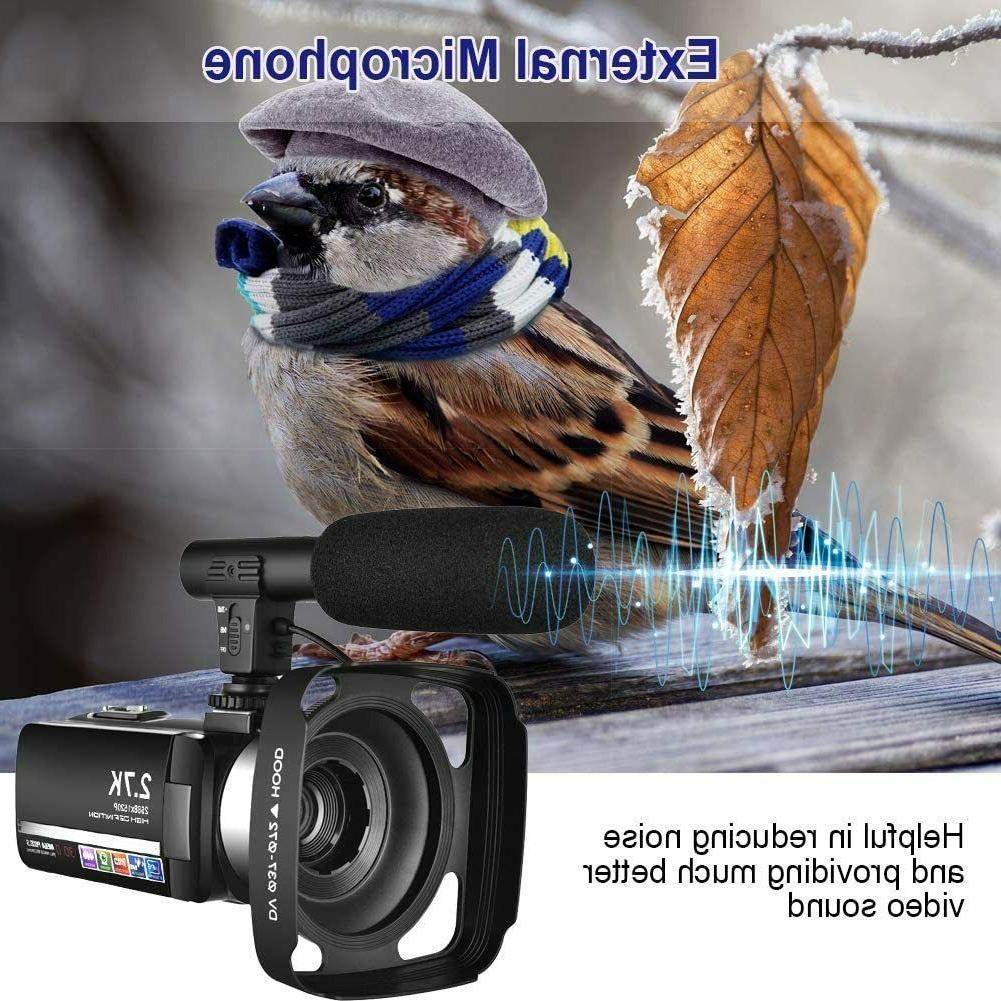 Video Microphone YouTube Camera 2.7K Ultra 20FPS