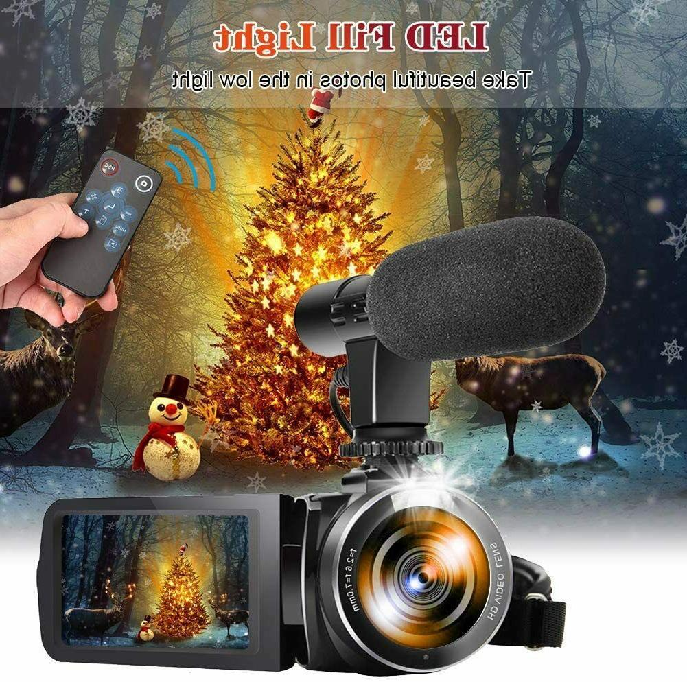 Video Camera Microphone Camera Recorder 2.7K
