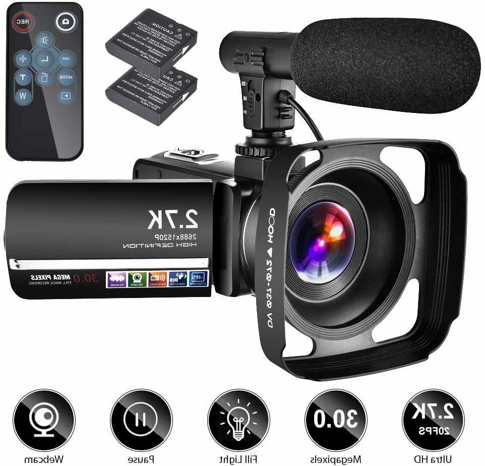 video camera camcorder w microphone youtube camera