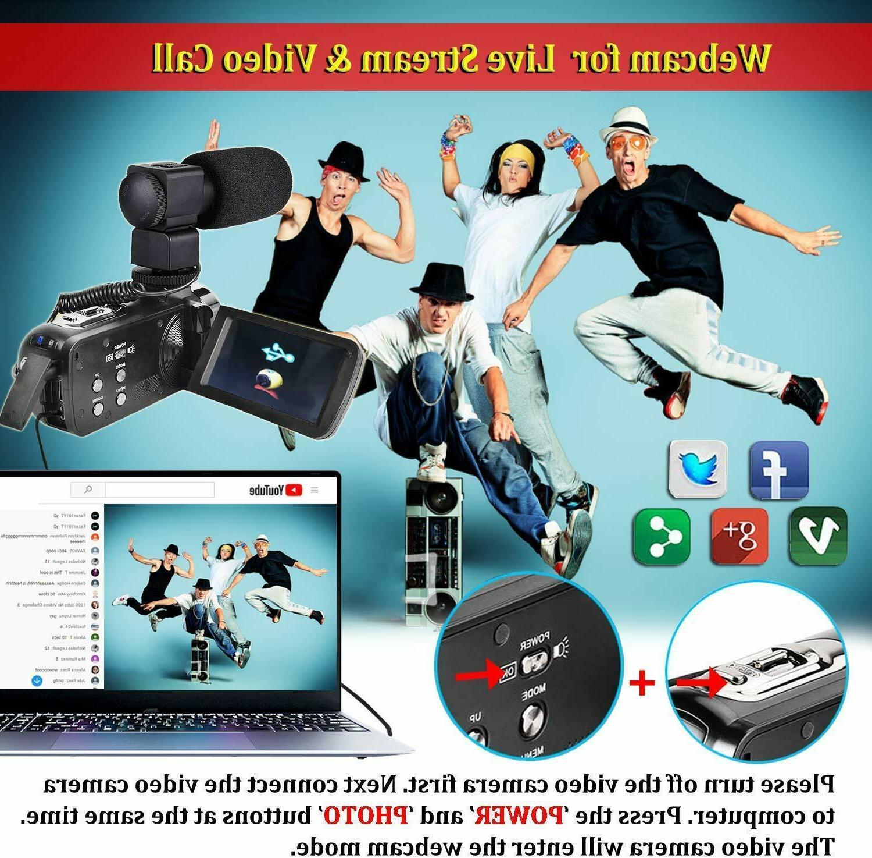 Video Camcorder Wifi Ir Night Vloggin