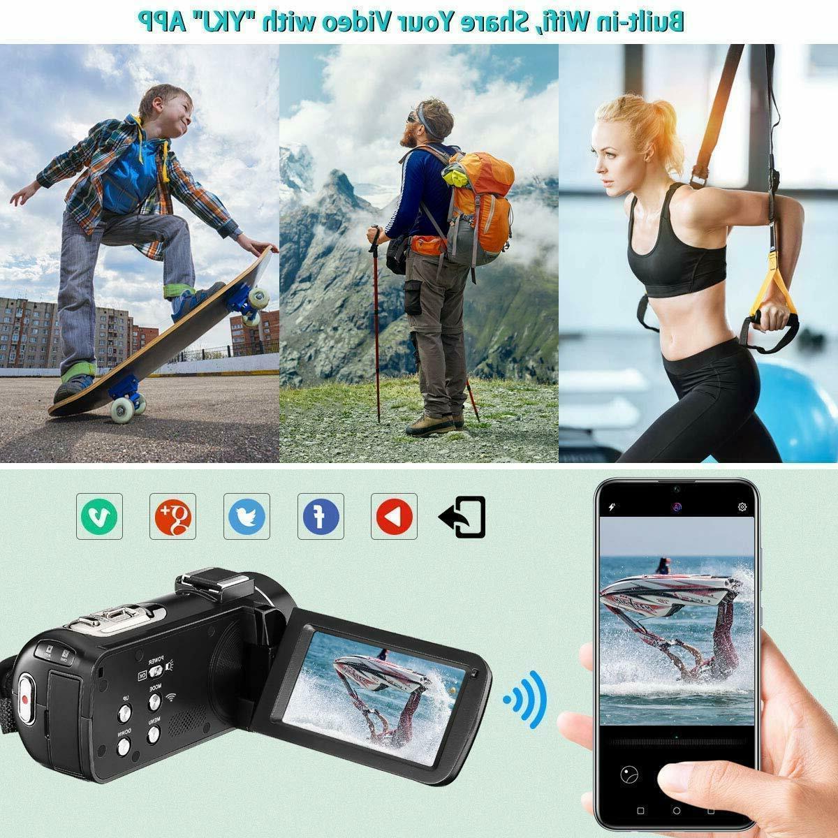Video Camera Wifi Ir Night Vision 1080P 30Fps 26Mp Youtube Vloggin