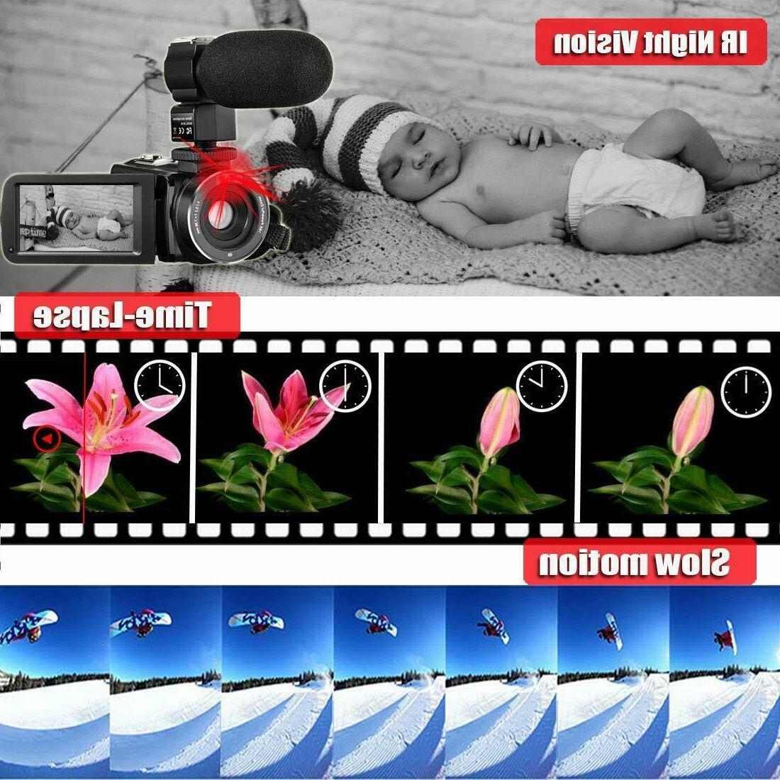 Video Camera Camcorder Ir Night 1080P 26Mp Vloggin
