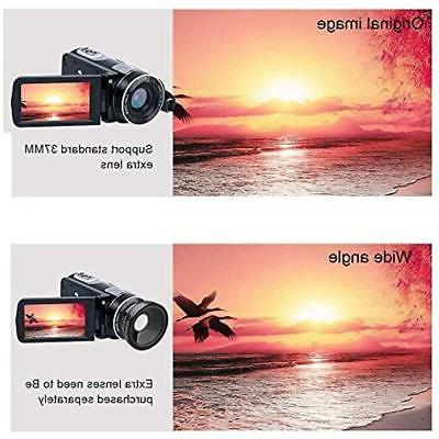 Video Camera Camcorder With IR Vision, 18X