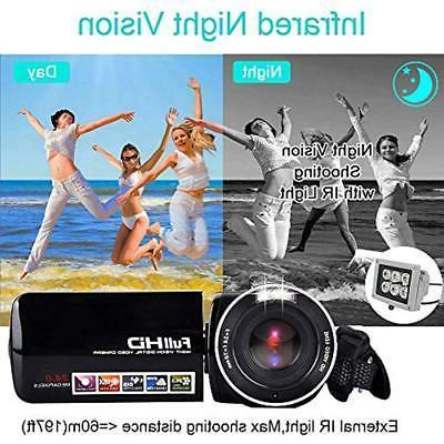 Video Camera Camcorder IR 18X Digital Zoom 24.0Mega