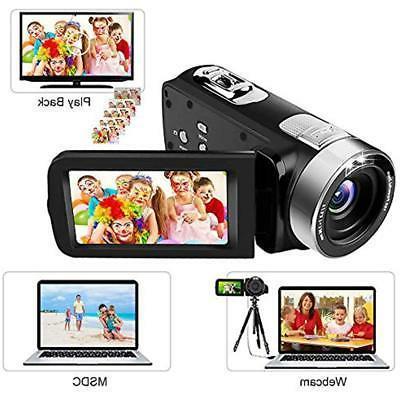 Video Camera IR Night Vision, 18X Digital Zoom 24.0Mega