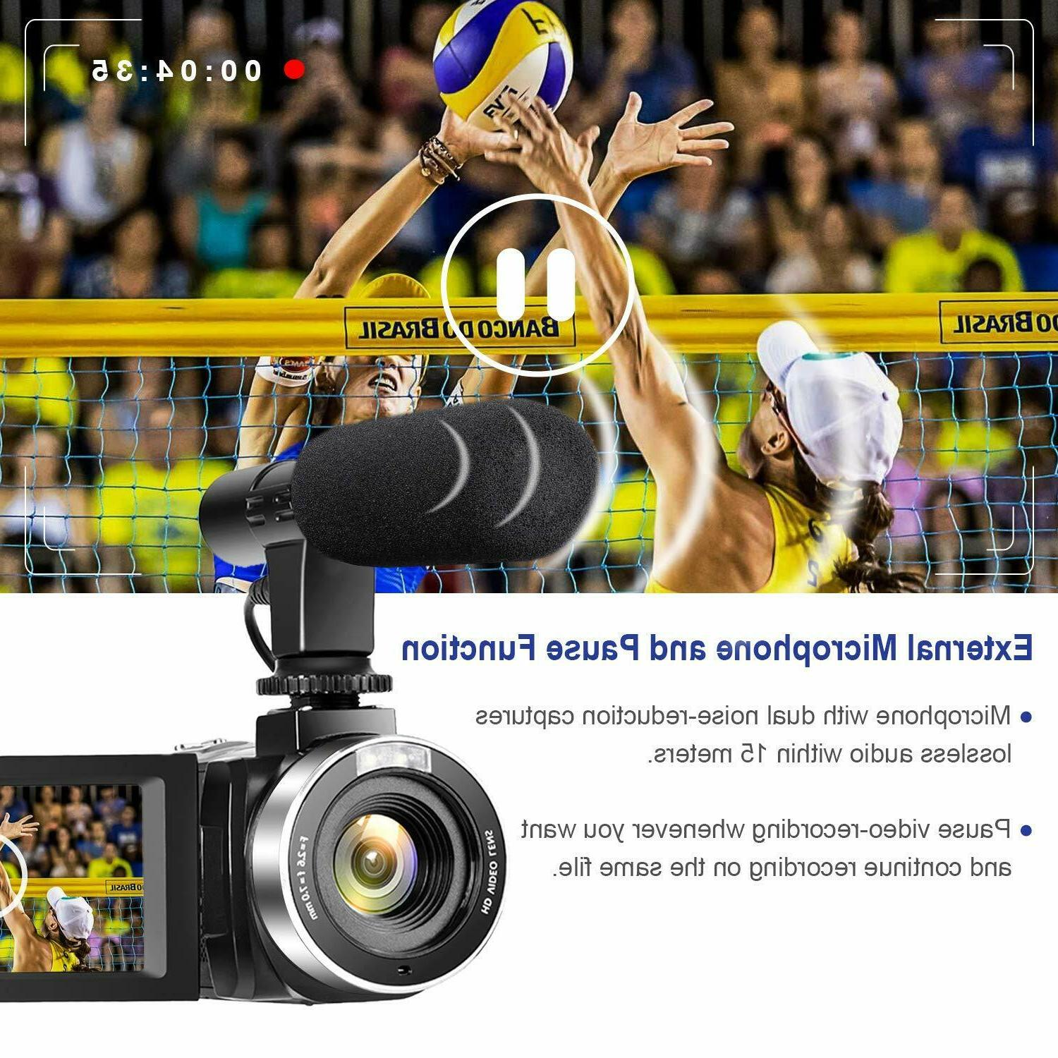 Video with Microphone 30MP Vlogging Camera wi...