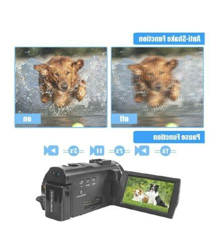 Video Camcorder with Microphone, Remote, 42MP HD