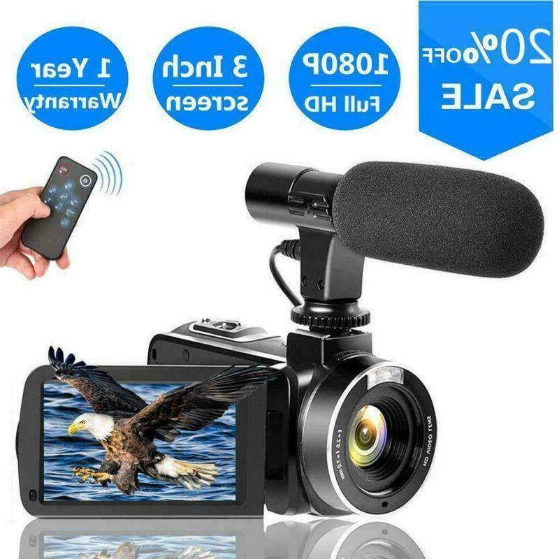 SUNLEA Video Camera Vlogging Camera 1080p 30fps 24.0MP