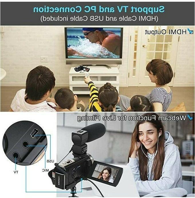 Video with HD 1080P 24MP 16X Digital 2