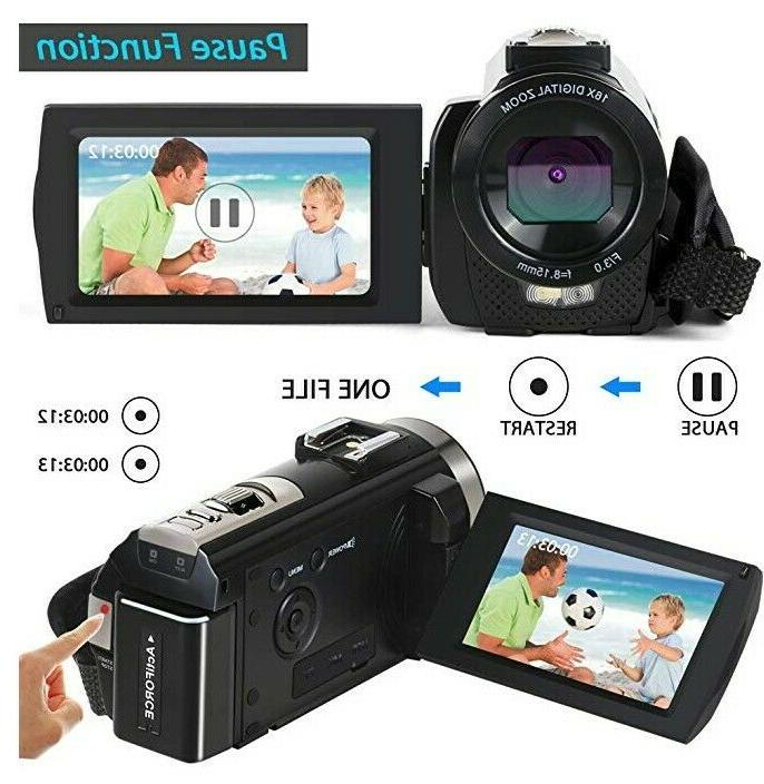 Video Camera HD 1080P 24MP Digital Zoom 2