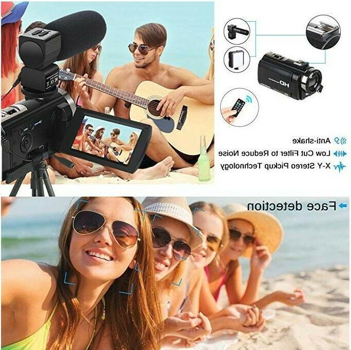 Video Microphone HD Digital Zoom 2 Batterie