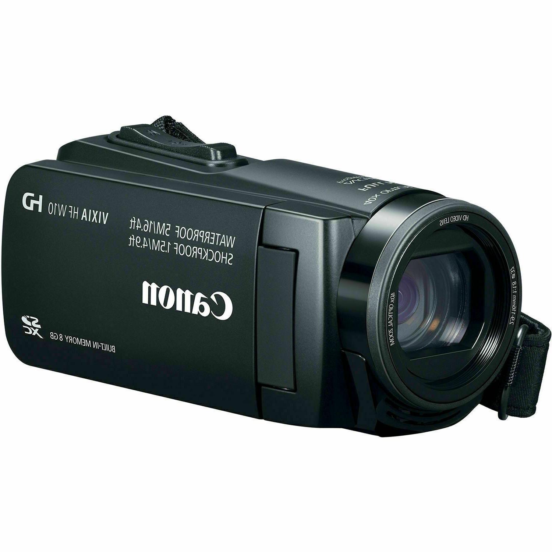 vixia hf w10 waterproof shockproof video camera