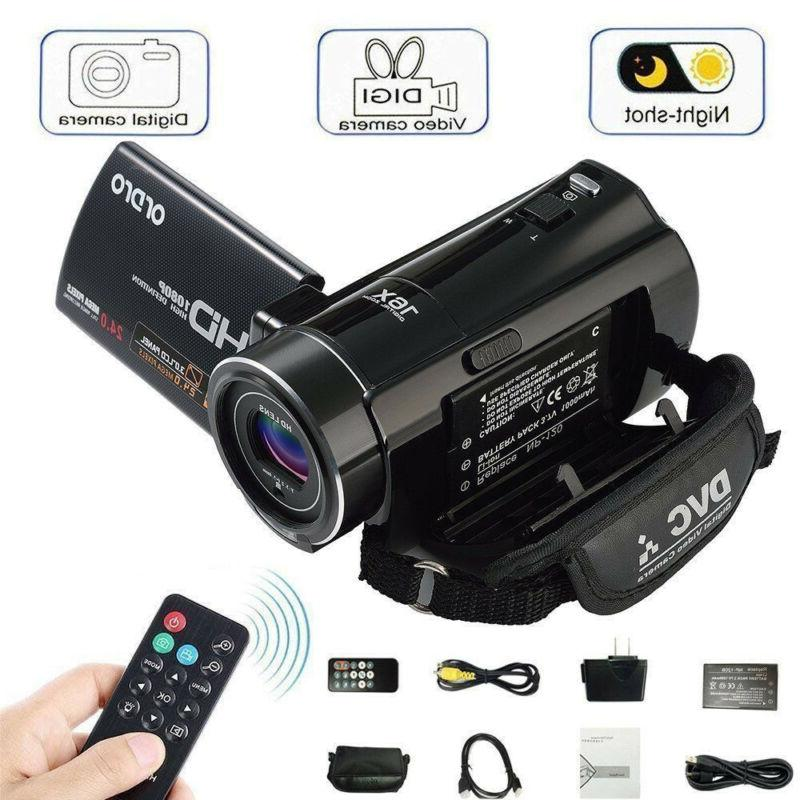 vlogging video camera camcorder 1080phd digital night