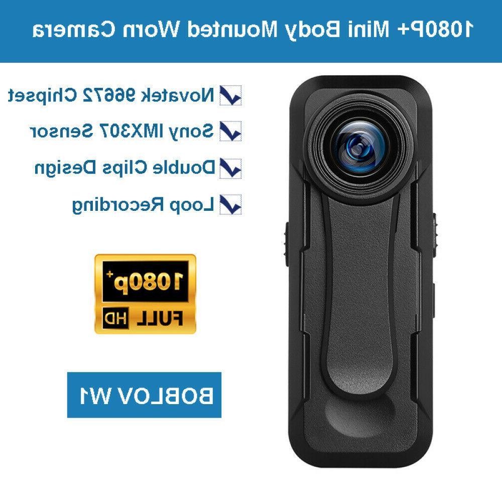 BOBLOV Mini 1080P+ Body Camera 30FPS Recording