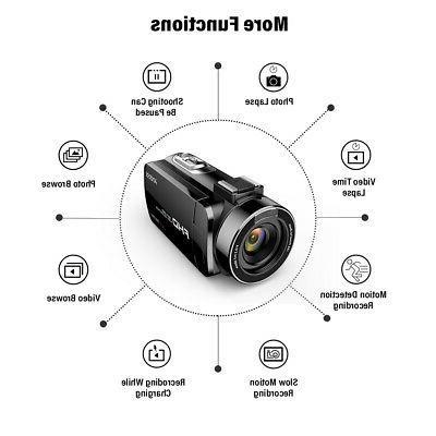 WiFi 4K FHD Digital Video Camera 1080P 24MP Recorder