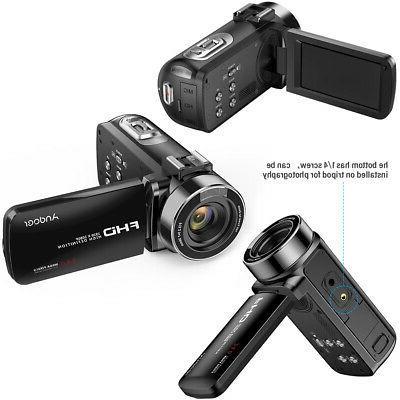 WiFi Video Camera Camcorder 1080P 24MP Recorder DV+Mic+Lens