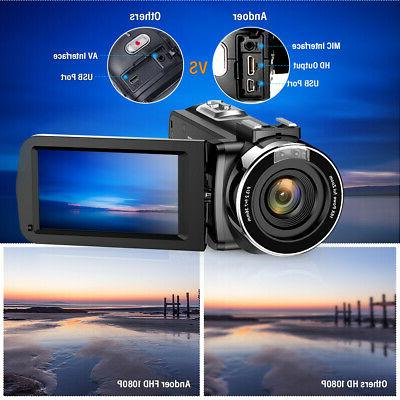 Video Camcorder 24MP Recorder
