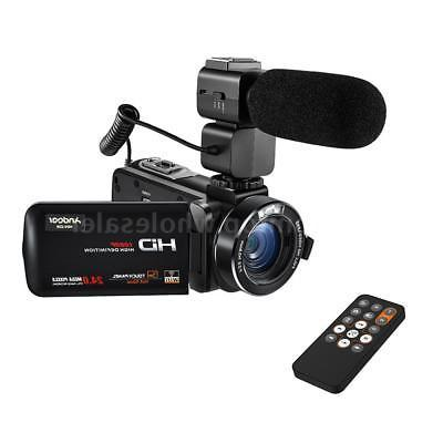Andoer FULL Video Camera DV Camcorder &Microphone