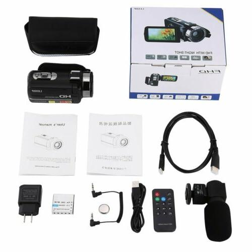 LESHP FULL IPS Video Camcorder & Microphone