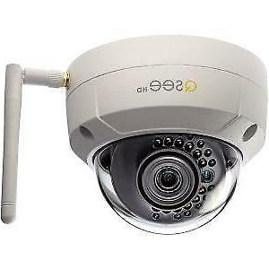 Q-see 3MP Wireless Indoor/Outdoor Dome Security Camera w/ 16